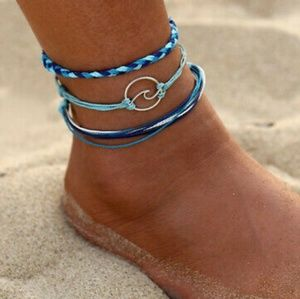🌀Oceans Kiss🌀 3 Piece Handmade Anklets